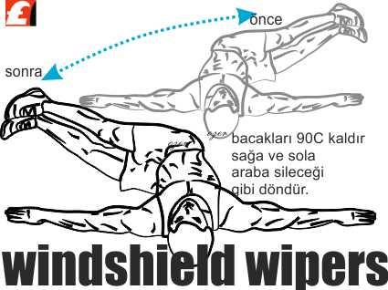 Yatarak Bacaklar İle Bel İnceltme Resimli