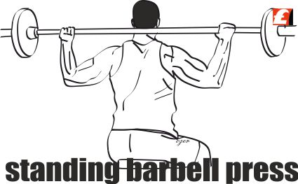 Halterle Omuz Pres Harketei (Barbell Press)